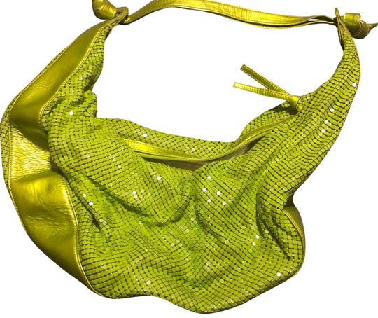 Preload https://img-static.tradesy.com/item/23632387/boutique-mesh-lime-green-faux-leather-and-metal-hobo-bag-0-1-540-540.jpg