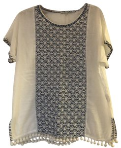 Madewell T Shirt White with Blue