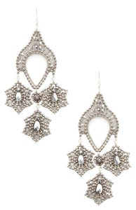 Miguel Ases New Authentic Silver Beaded Contemporary Drop Earrings