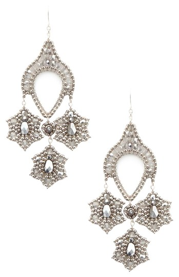 Preload https://img-static.tradesy.com/item/23632448/miguel-ases-silver-new-beaded-contemporary-drop-earrings-0-2-540-540.jpg