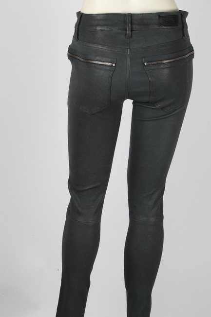 R+A Casual Skinny Pants Gray