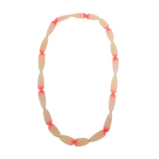 Preload https://img-static.tradesy.com/item/23632500/pink-ivory-long-resin-necklace-0-0-540-540.jpg