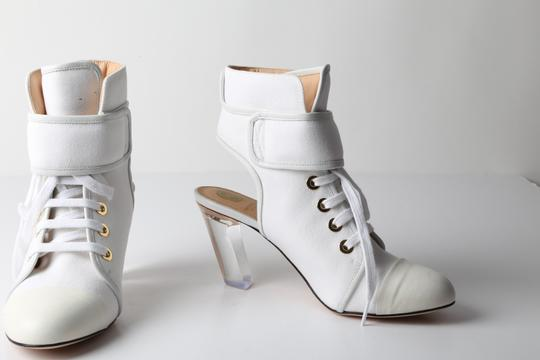 VIKTOR & ROLF Lace Uo White Boots