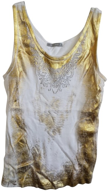 Preload https://img-static.tradesy.com/item/23632775/nally-and-millie-white-golden-m-ribbed-sleeveless-tee-with-gold-spray-print-tank-topcami-size-10-m-0-1-650-650.jpg