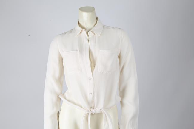 Theory Casual Button Down Top White