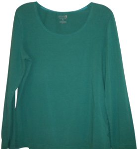 Willow Bay Long Sleeve Stretch T Shirt Teal Green