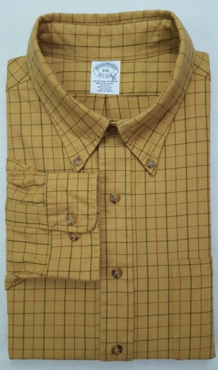 Preload https://item3.tradesy.com/images/brooks-brothers-beige-tan-multicolor-2xl-brooksflannel-checked-cotton-wool-brow-shirt-23632892-0-0.jpg?width=440&height=440