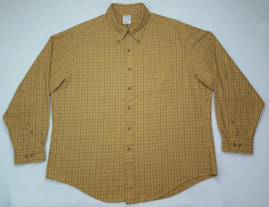 Brooks Brothers Beige Tan Multicolor 2xl Brooksflannel Checked Cotton Wool Brow Shirt