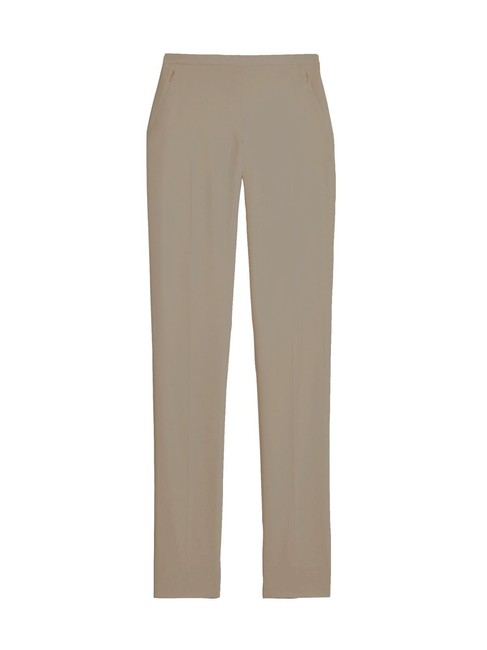 Carlisle Classic Casual Crepe Tapered Straight Pants Sand Dollar