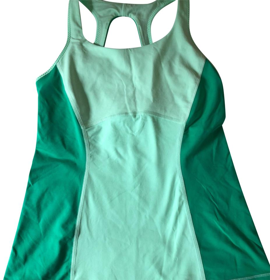229e3ae68dae5 Lululemon Green Built In Bra Activewear Top Size 4 (S) - Tradesy