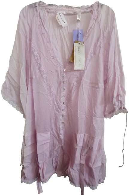 Preload https://item1.tradesy.com/images/pink-sheer-silk-and-cotton-embroidered-mid-length-casual-maxi-dress-size-10-m-23632925-0-1.jpg?width=400&height=650