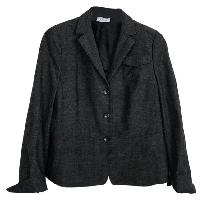 Preload https://img-static.tradesy.com/item/23632972/akris-punto-heathered-charcoal-wool-blend-blazer-size-12-l-0-1-650-650.jpg
