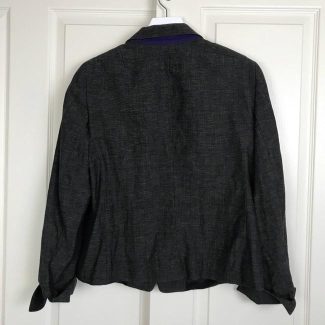 Akris Punto heathered charcoal Blazer