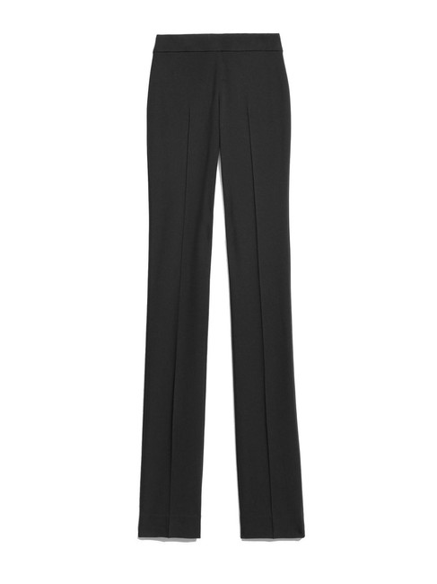 Per Se Slim Fit Pull On Casual Career Classic Straight Pants Black