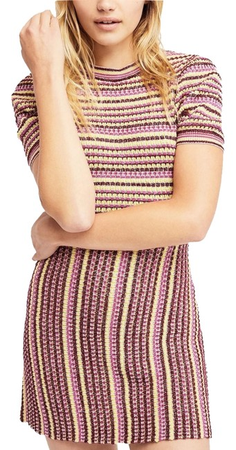 Preload https://item5.tradesy.com/images/free-people-pink-retro-cool-knit-short-casual-dress-size-12-l-23633034-0-1.jpg?width=400&height=650