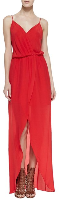 Preload https://item4.tradesy.com/images/red-draped-tulip-silk-maxi-mid-length-cocktail-dress-size-4-s-23633043-0-1.jpg?width=400&height=650