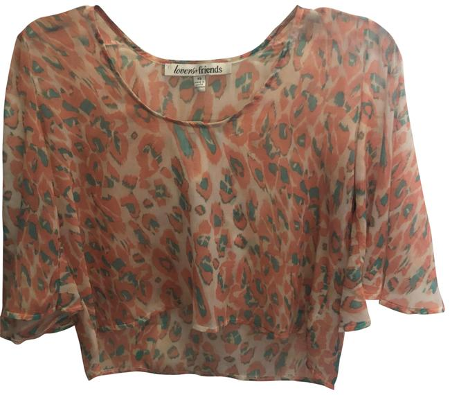 Preload https://img-static.tradesy.com/item/23633071/lovers-friends-moonlight-blouse-cheeta-peach-family-and-turquoise-top-0-1-650-650.jpg