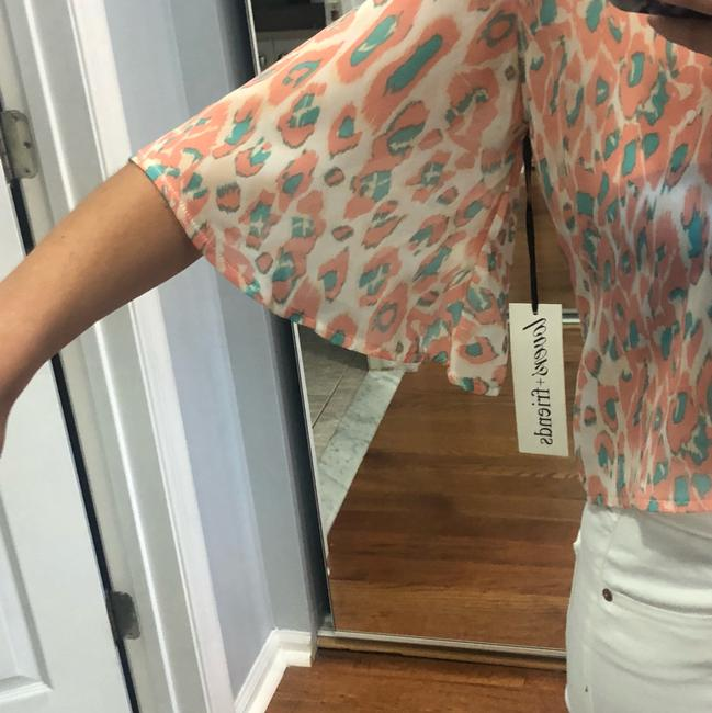 Lovers + Friends Top Peach family and turquoise