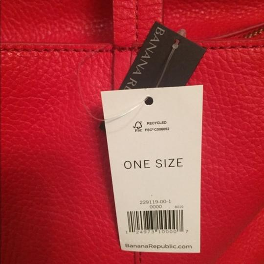 Banana Republic Leather Convertible Tote in Deep Red
