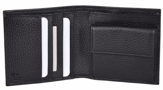 Gucci New Gucci Men's 150413 1067 Black Leather Coin Pocket Logo Wallet