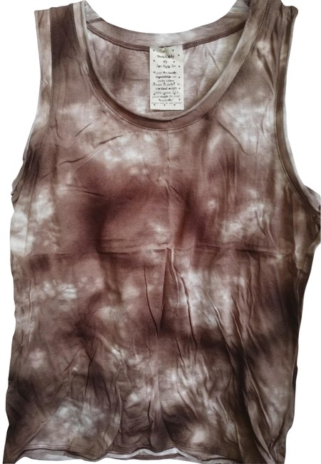 Preload https://item5.tradesy.com/images/brown-white-just-right-print-cotton-tee-tank-topcami-size-6-s-23633179-0-1.jpg?width=400&height=650