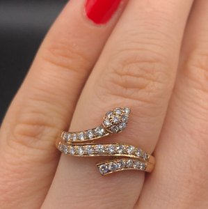 Other Delicate and Classic 14k rose gold ring features 0.85cts diamond