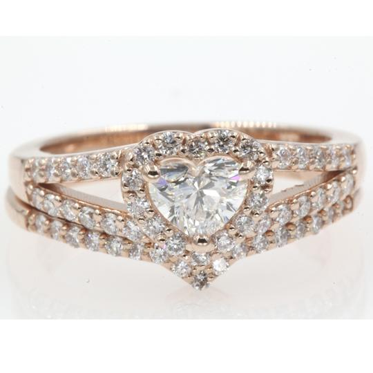 Preload https://item4.tradesy.com/images/14k-rose-gold-gia-certified-1-carat-heart-shaped-halo-engagement-ring-23633233-0-0.jpg?width=440&height=440