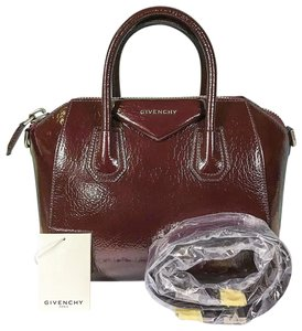Givenchy Patent Leather Antigona Satchel in Red