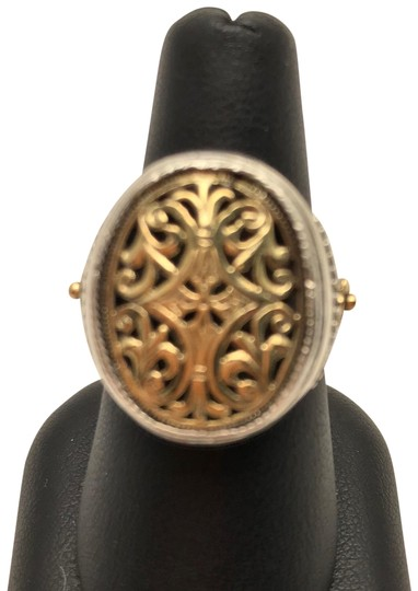 Preload https://img-static.tradesy.com/item/23633317/konstantino-silver-and-gold-filigree-top-oval-ring-0-1-540-540.jpg