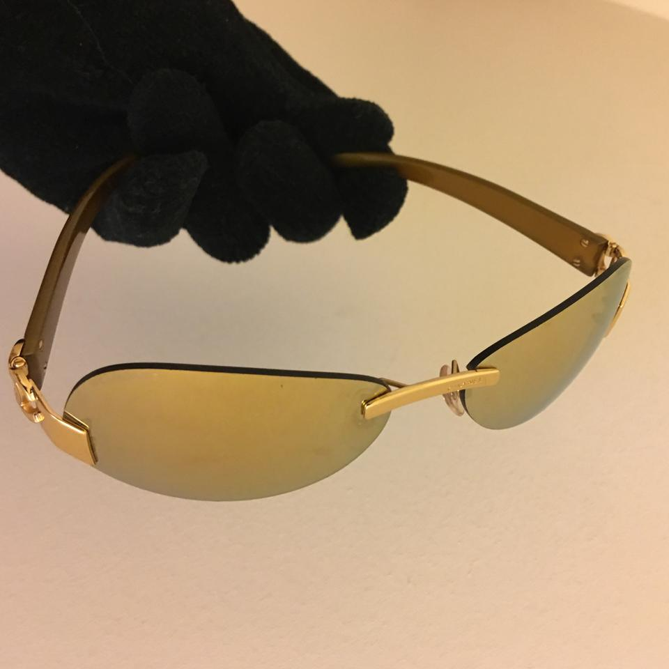 d696dbd84c Chanel mirrored lens in gold tone cc logo Image 10. 1234567891011