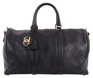 Chanel Leather Satchel in black
