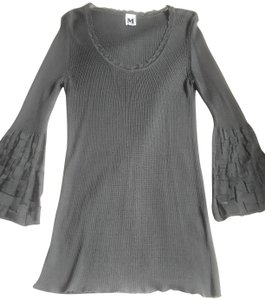 M Missoni Bell Sleeves Knit Fall Scoop Neck Sweater