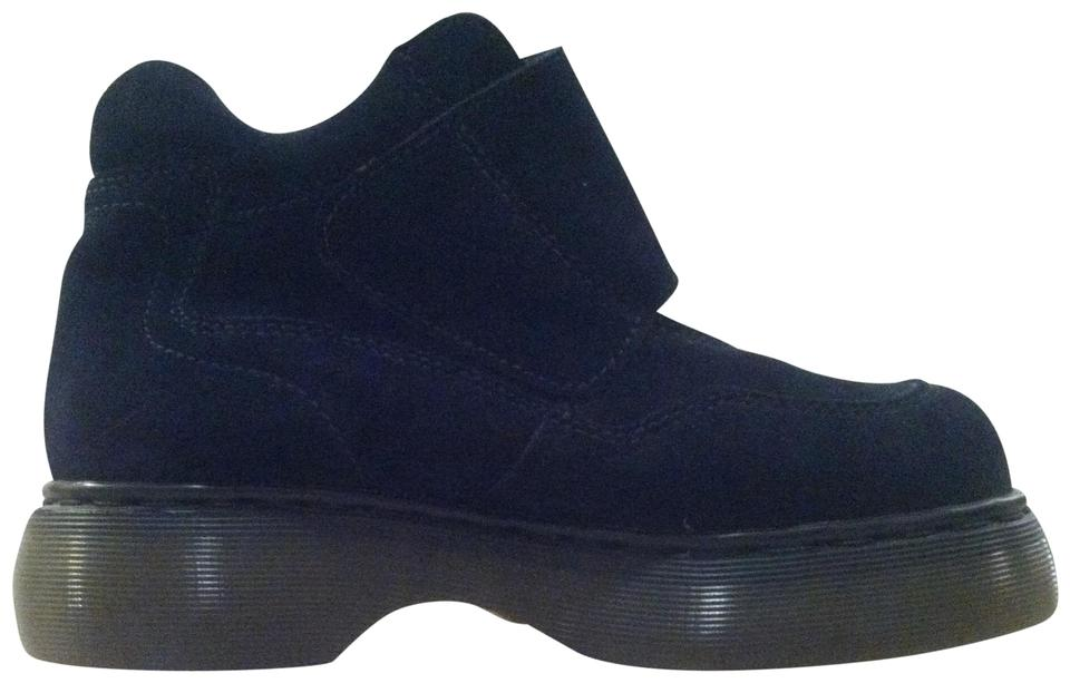 9e2c4a346de Dr. Martens Dark Blue Suede New with Tags Vintage 90s Boots Booties ...