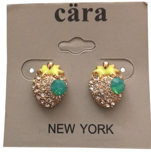 Cära Couture Jewelry Pave Strawberries Studs