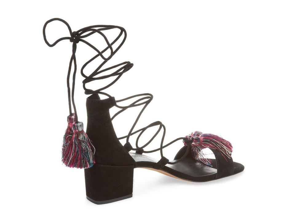 Wraparound Minkoff Isla Black Rebecca Sandals Lace wzUqTYtYx
