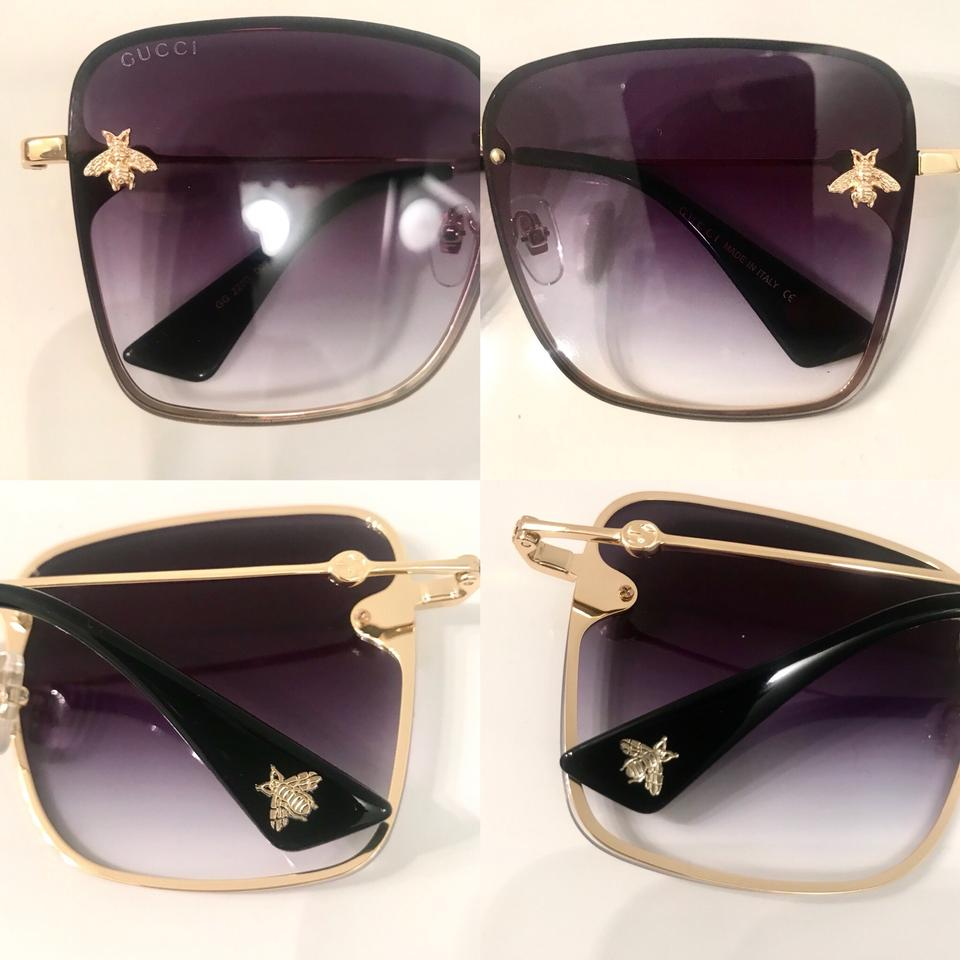 Gucci Gold Bee Collection Sunglasses