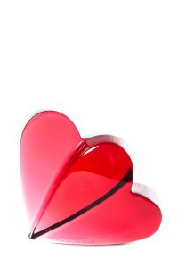 Baccarat Baccarat Red Crystal Double Heart Paper Weight