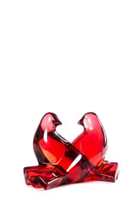 Baccarat Baccarat Ruby Doves Paper Weight