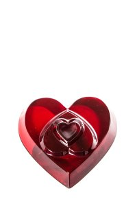 Baccarat Baccarat Red Crystal Heart by Thomas Bastide
