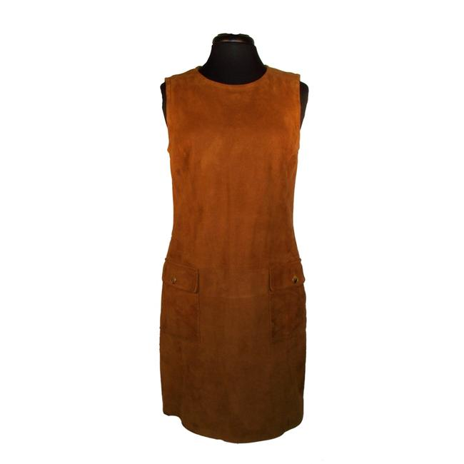 Item - Brown Suede Jumper Mid-length Work/Office Dress Size 10 (M)