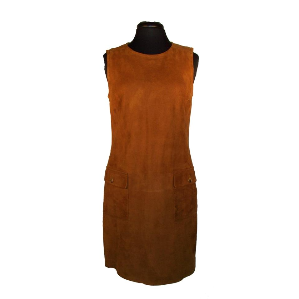 big discount of 2019 modern design latest selection Pollini Brown Suede Jumper Mid-length Work/Office Dress Size 10 (M) 78% off  retail