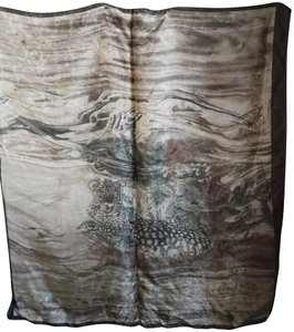 Krizia Krizia made in Italy silk print scarf with tiger