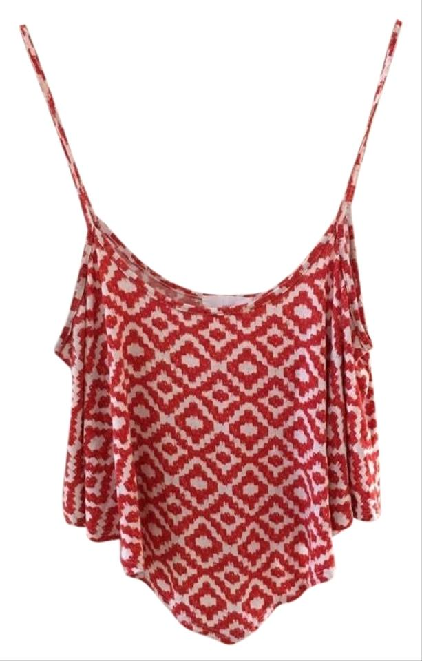 bf941d1ec4e Red and White Crop Tank Top/Cami Size 8 (M) - Tradesy