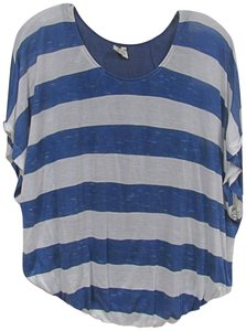Willow & Clay Striped Top Blue, White