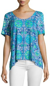 Plenty by Tracy Reese Top Blue, Green, White