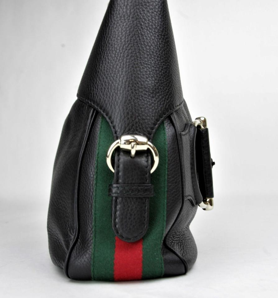 d62be4fec69f Gucci Shoulder Horsebit W Web W/Shoulder Strap 247304 Black Leather ...