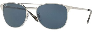 Ray-Ban Ray Ban Unisex Square Sunglasses RB3429M 003/R5 Silver Frame Blue