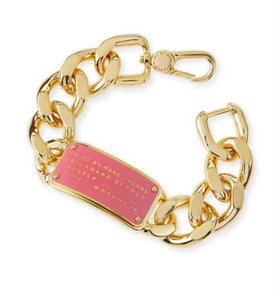 Marc by Marc Jacobs ***New*** ID Bracelet with Enamel Curb Link