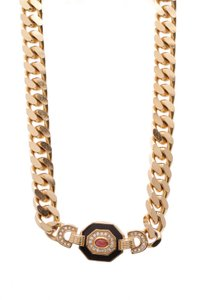 Dior Christian Dior Vintage Curb Chain Necklace
