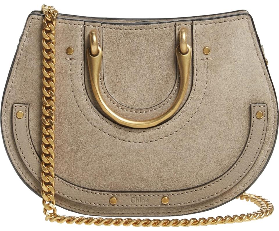 f939c44e2563 Chloé Pixie Micro Top Handle Mottey Grey Leather Satchel - Tradesy